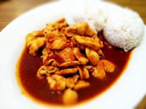 Thai Garlic Chicken (lunch portion) sans vegetables