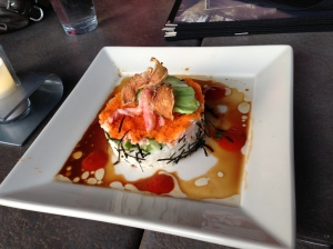California Roll appetizer from Yard House
