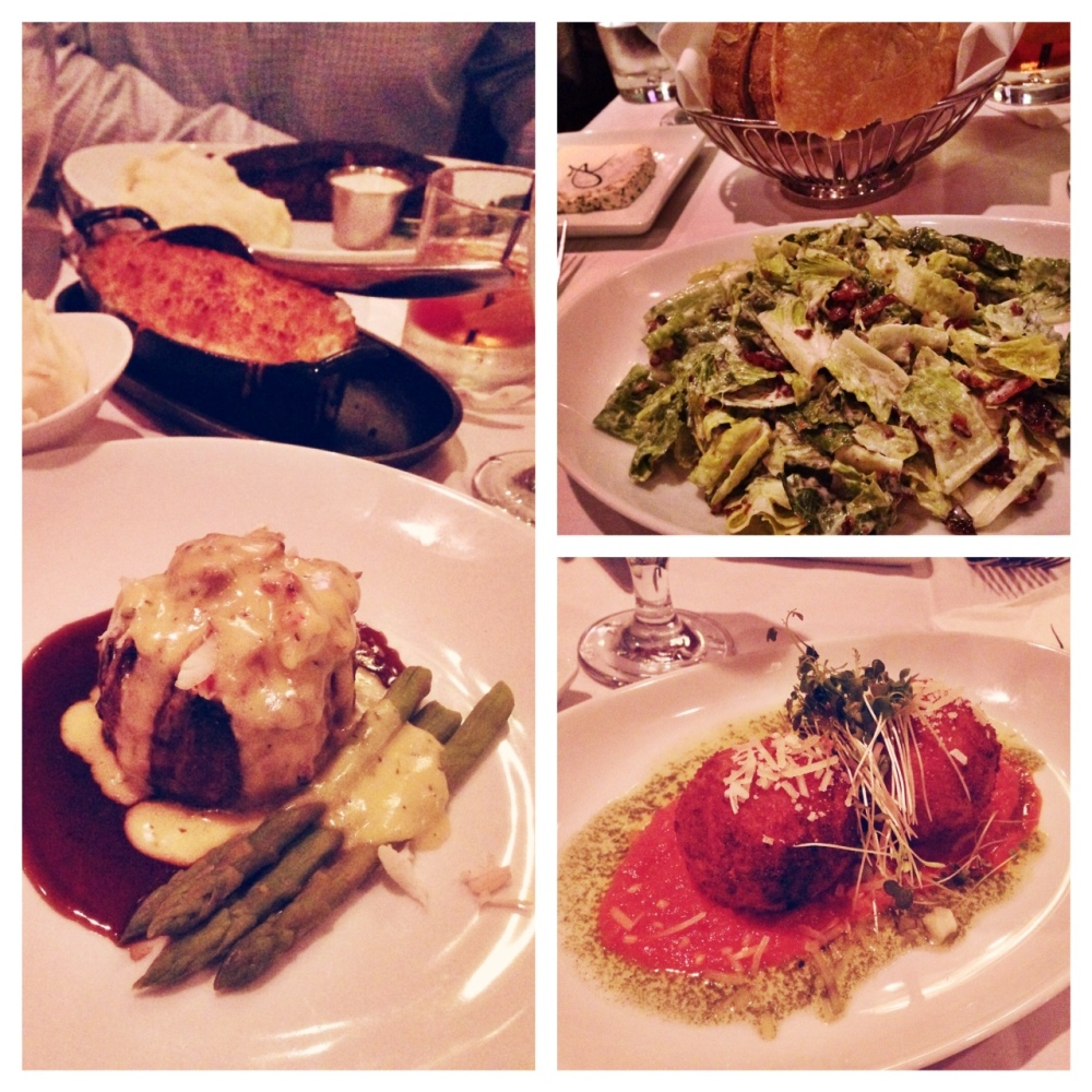 Food [from left]: Entrees, Freddie Salad, and Arancini.