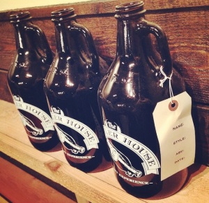 64 oz. growlers at The Growler House