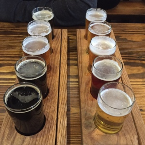 Flight featuring all ten beers
