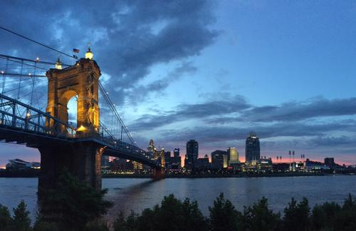 Cincinnati Skyline at Sunset