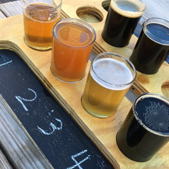 Flight +2 (gotta try 'em all!) at Darkness Brewing