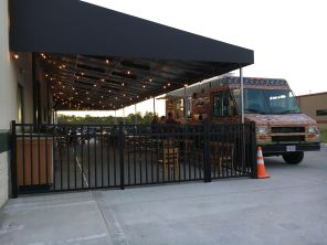 Patio area and food truck at FigLeaf