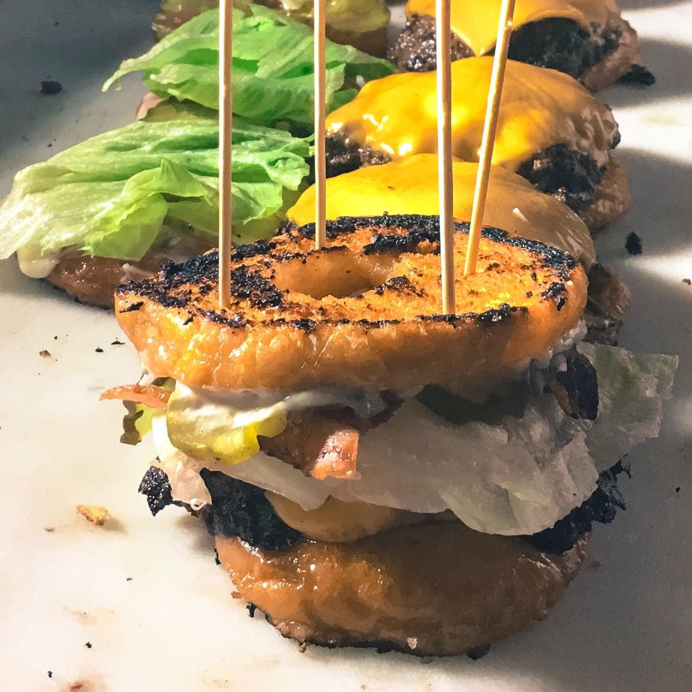 Donut burgers from Bard's Burgers