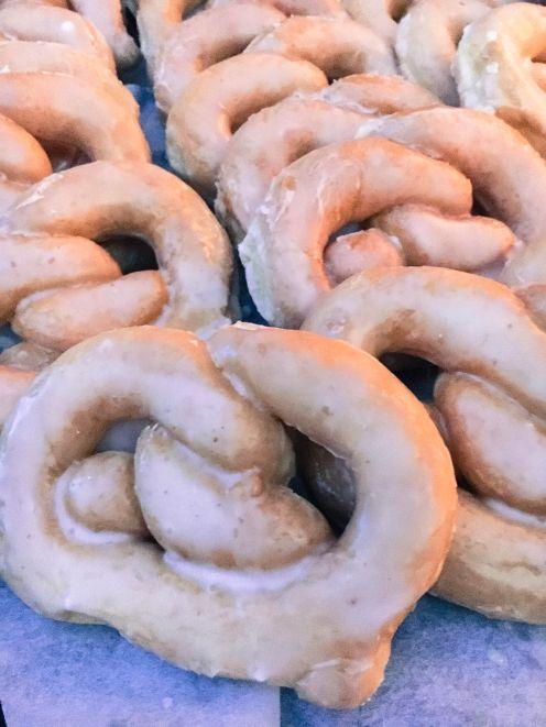 "Servatii glazed ""pretzel"" donuts"