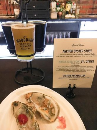 Anchor Oyster Stout tapping and oyster pairing at The Woodburn