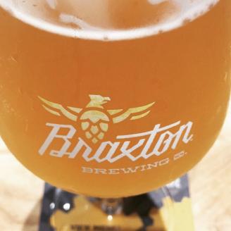 Pint glass at Braxton