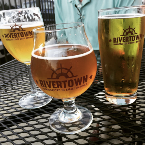 Beer on Rivertown's patio